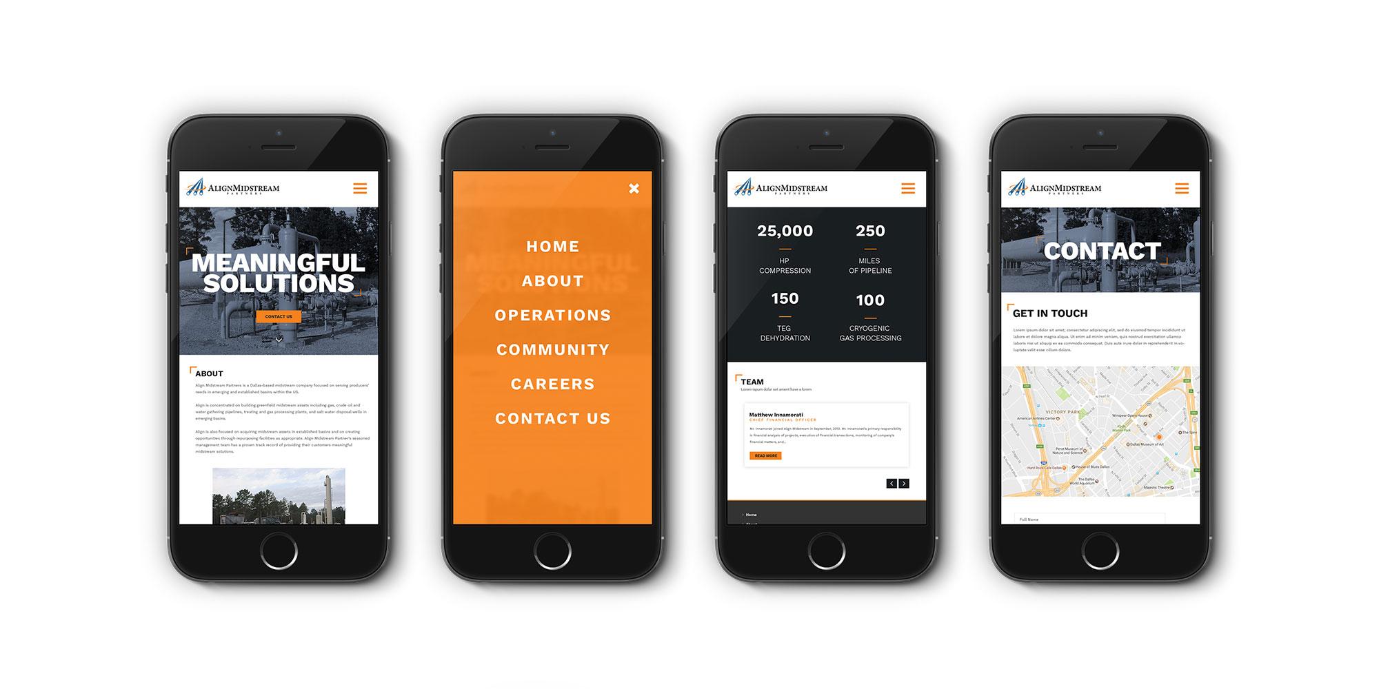 Align Midstream Responsive Website Design