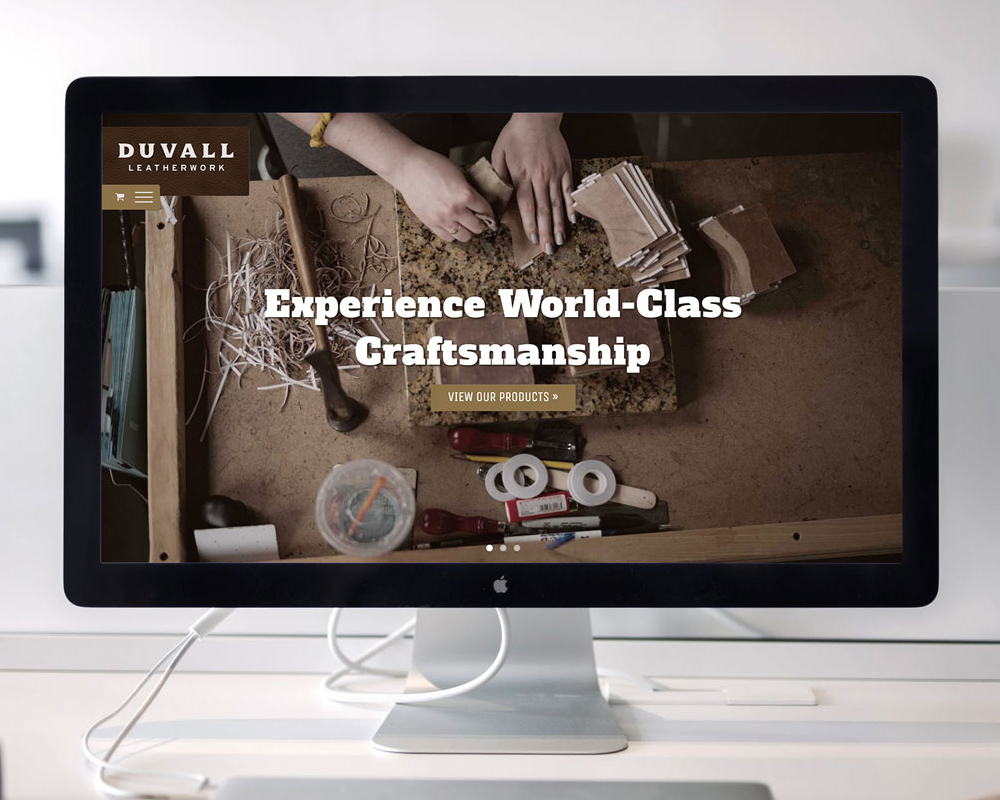 Duvall Leatherwork Website Design