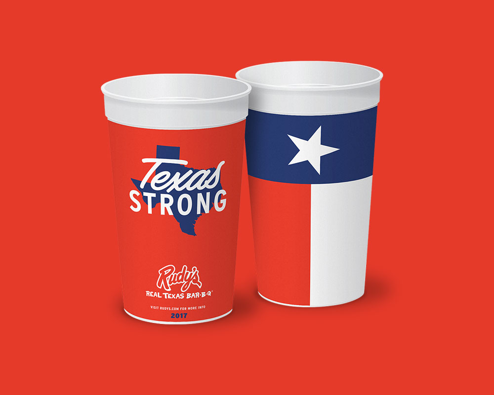 Rudy's Texas Strong BBQ Cup
