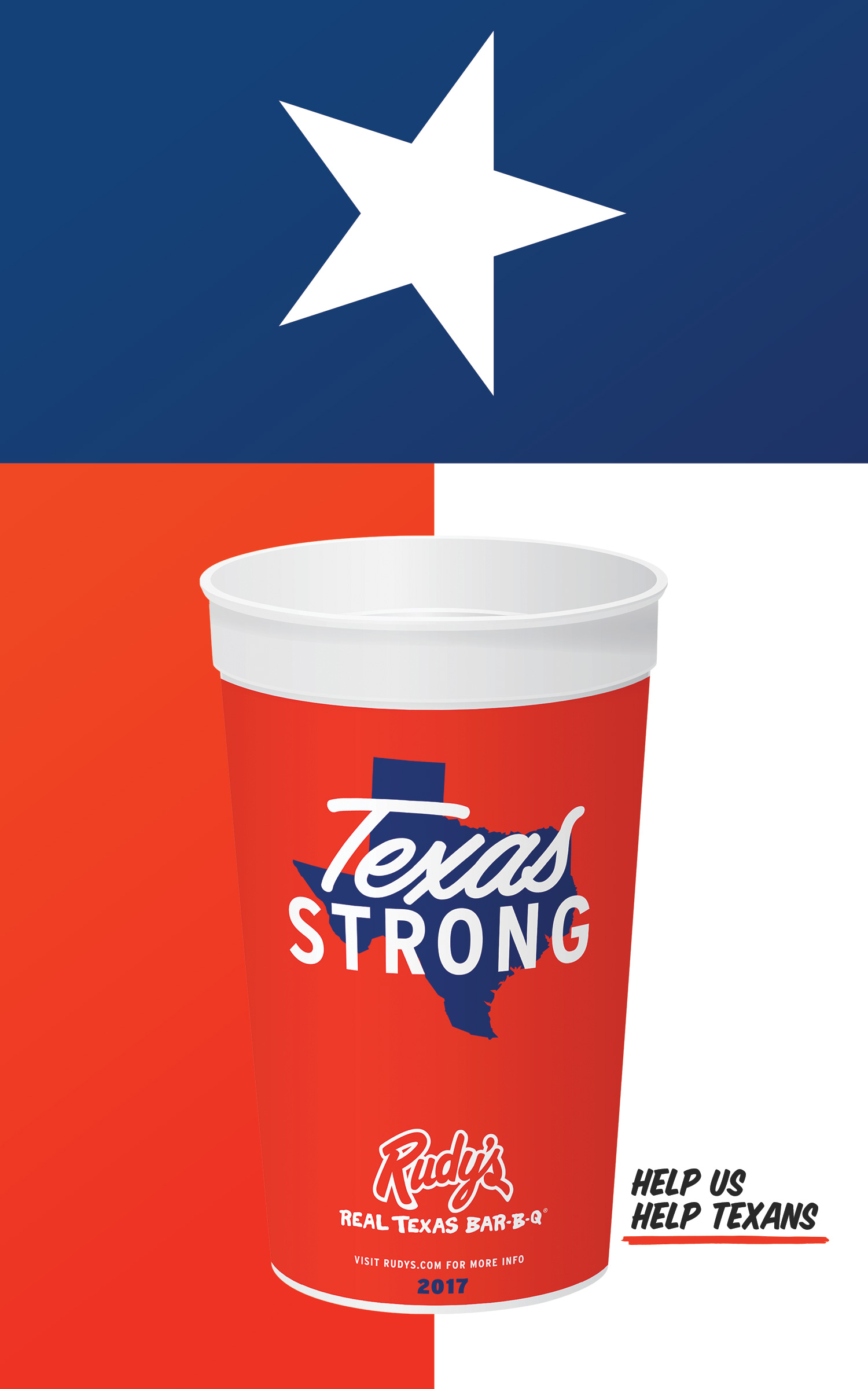 Rudy's Texas Strong Poster